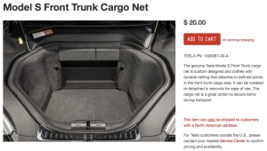 Tesla Frunk Net