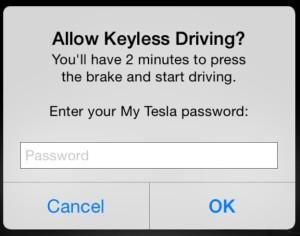 Keyless confirm